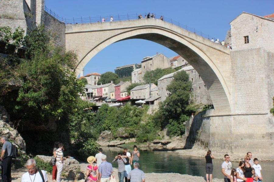 Teen girls Mostar