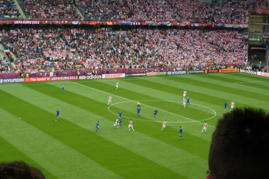 Croatia vs. Italy match at UEFA Euro 2012